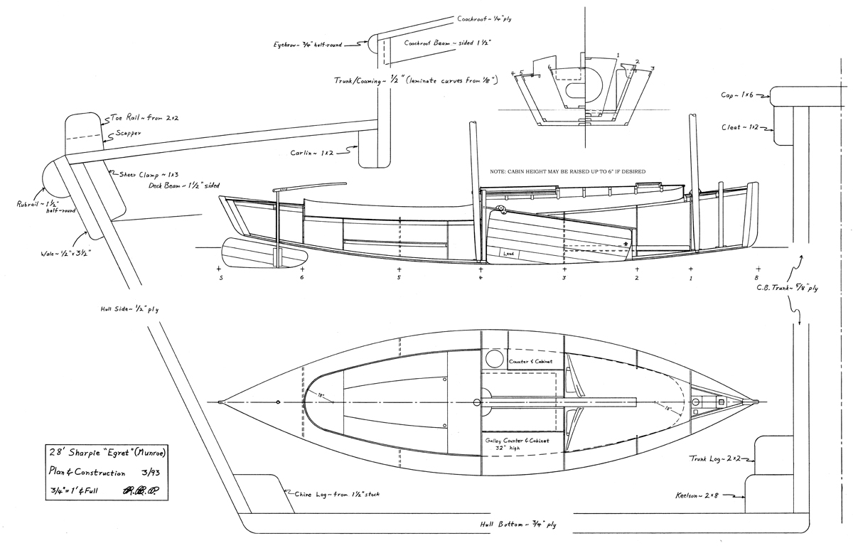 Boat plans sharpie | Antiqu Boat plan